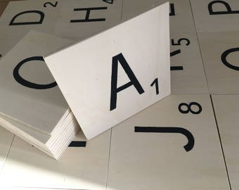 Scrabble tiles Alphabet