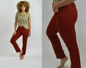 Corduroy pants / 70s Pants Trousers / LEE / Straight leg / Vintage pants / Mid rise / Bohemian vintage / Stretchy pants