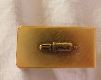 Vintage Money Clip Gold Tone Money Clip Mens Money Clip Mens Accessories Sears Craftsman Money Clip