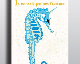 poster illustration hippocorne