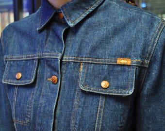 1990s TODD OLDHAM denim chore jacket tunic dress