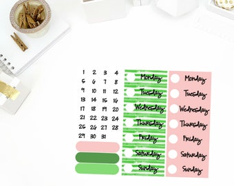 Shamrock Date Cover Up Stickers! Perfect for your Erin Condren Life Planner, calendar, Paper Plum, Filofax!