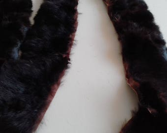 Rabbit fur trim