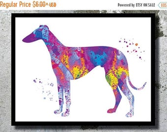SUMMER SALE GreyHound Watercolor Art Print Dog Art GreyHound Dog Watercolor Dog Home Decor Watercolor painting Dog Illustration Children's W