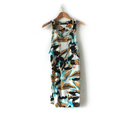 B Side Abstract long vest