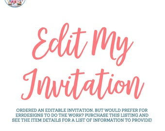 Edit My Invitation