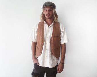 Vintage leather vest