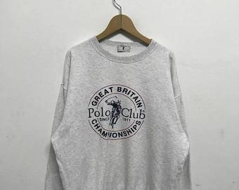 20% OFF Vintage Polo Club Sweatshirt,Polo Club Sweater,Polo Club Clothing,Mens Clothing,Polo Club Big Logo