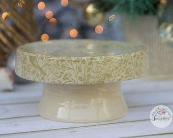 Small Green Song Bird Cake Stand