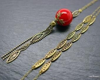 art deco Yoko necklace, art deco long necklace
