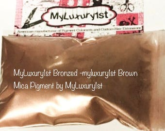 Bronzed Gold Brown Slime Mica Pigment Powder for Painting, Resin, Epoxy, Art, Face Powder, Candle Coloring Colorant