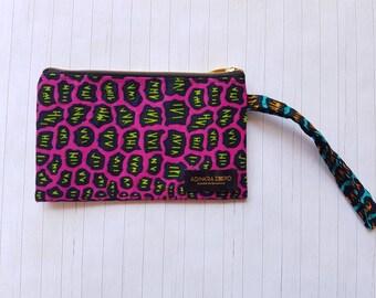 African Print Wristlet/ pouch/ wristlet