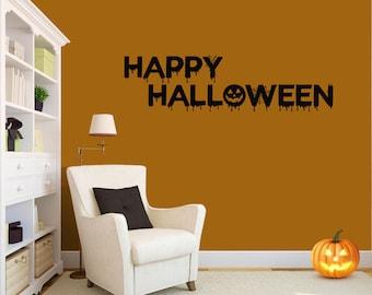 Happy Halloween Decor,Halloween Decal,happy halloween Wall Decals,Halloween wall Decals,Halloween decor,Halloween Wall Decals