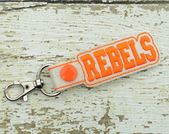 Rebels Keychain - Bag Tag - Small Gift - Gift for Her - Thank You Gift - Bag Accessory - Zipper Pull - Team Spirit