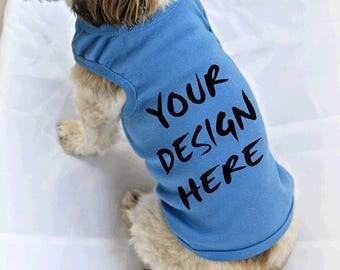Personalized Dog Tank Top with Your Dog's Name or Custom Design. Big Sister Big Brother Dog Shirt. Custom Dog Shirt.