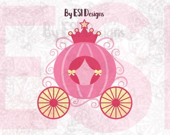 Princess Carriage svg, Crown svg, New Baby svg files, Baby shower svg, Clipart, Printable, Cut files, SVG, DXF, EPS, Png Silhouette Cricut