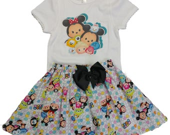 Girl Tsum Girl birthday outfit toddler age outfit Girl name age outfit Girl skirt shirt outfit Girl clothes  girl Tsum outfit
