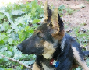 German Shepard Art