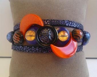 "Women bracelet inspired by ""MARVEL COMICS"" model ""MYSTIQUE"", unique and handmade"