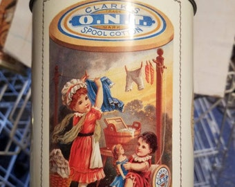 Clark's Spool Cotton Tin