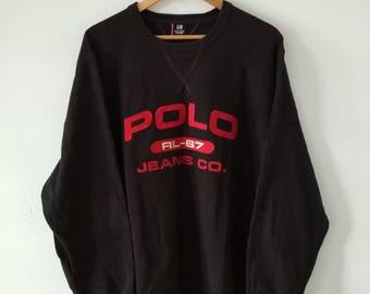 Rare Vintage POLO JEANS Company Ralph Lauren Sweatshirt Size XL
