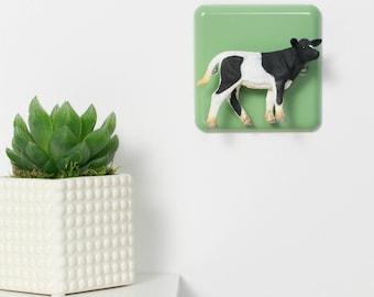 Pastel Green Cow Light Switch -Nursery Lighting - Nursery Light Switch - Cow Kitchen - Cow Bedroom - Farm Nursery Decor - Cow Gift - Cow