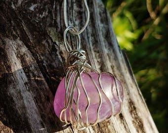 Amethyst Gemstone Crystal Necklace