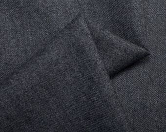 Charcoal Grey Poly Wool Blend Fabric by 5 Yards~ Suit Jacket Kilt Sewing Craft Decor Grey Colour Wool Fabric Gray@sohoskirts