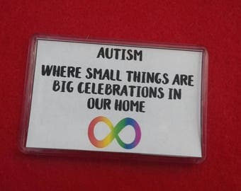 Autism Awareness Fridge Magnet, Autism Quotes, National Autistic Society, Charity Magnets, Learning Disabilities, Big Celebrations At Ours