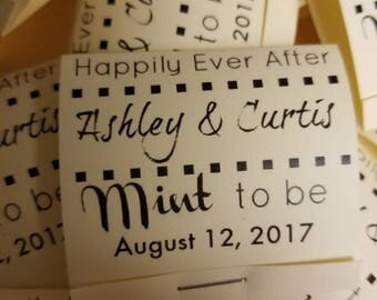 100 Mint to be wedding favors. Rustic wedding favors. Wedding favors. Bridal shower favors. Mint to be bridal shower favors.