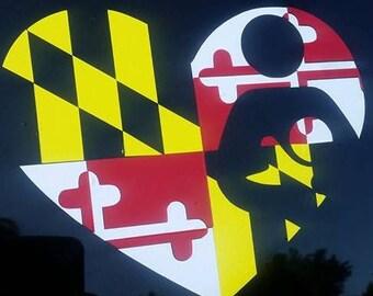 Maryland Flag Breastfeeding Car Decal