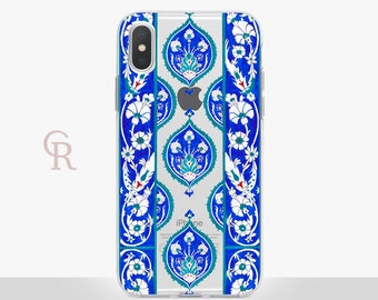 Bohemian iPhone X Clear Case For iPhone 8 iPhone 8 Plus - iPhone X - iPhone 7 Plus - iPhone 6 - iPhone 6S - iPhone SE - Samsung S8