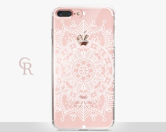 Mandala iPhone 7 Clear Case For iPhone 8 iPhone 8 Plus - iPhone X - iPhone 7 Plus - iPhone 6 - iPhone 6S - iPhone SE - Samsung S8 - iPhone 5