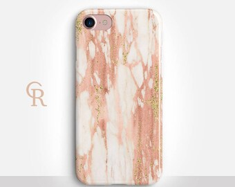 Rose Gold Marble Phone Case For iPhone 8 iPhone 8 Plus - iPhone X - iPhone 7 Plus - iPhone 6 - iPhone 6S - iPhone SE - Samsung S8 - iPhone 5