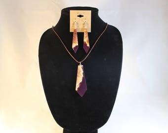 Australian Mallee and acrylic jewelry set