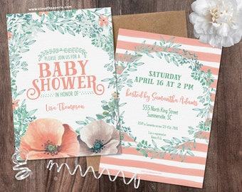 Peach Baby Shower | Etsy