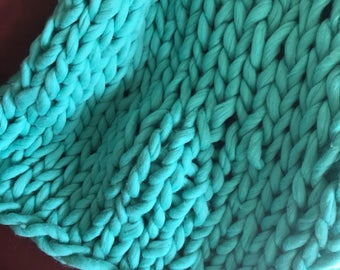 Chunky Merino Wool Throw