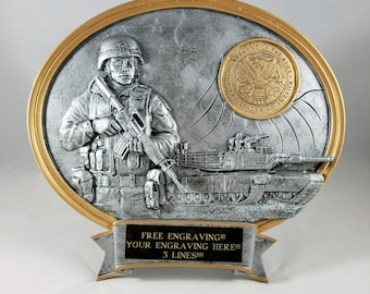 United States Army Resin Oval Award-Free Engraving!