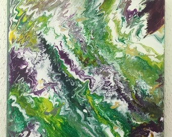 green/acrylic painting abstract painting green/décor / art / france