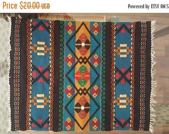 CLEARANCE Hand Embroidered Textile / Wall Hanging / Table Cloth
