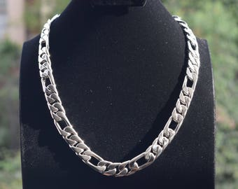 Mens .925 Sterling Silver thick and heavy chain Three by One handmade.