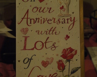 On Our Anniversary with Lots of Love Card