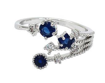 Shining crystal meteor ring