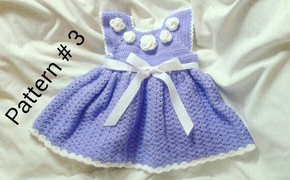 Crochet baby dress pattern Baby hat pattern Baby booties pattern Crochet pattern for baby girl Crochet baby pattern