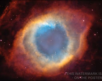 Poster, Many Sizes Available; Helix Nebula Hubble Space Telescope