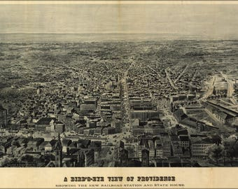Poster, Many Sizes Available; Birdseye View Map Of Providence Rhode Island 1895