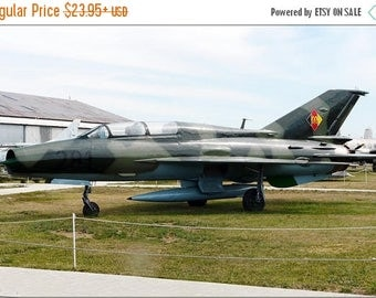 20% Off Sale - Poster, Many Sizes Available; East German Mikoyan-Gurevich Mig-21U Mongol