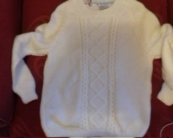 Hand knitted jumper to fit a child aged 5-6 years old