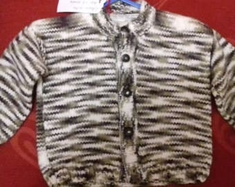 Hand knitted cardigan to fit a little boy aged 1-2 years old