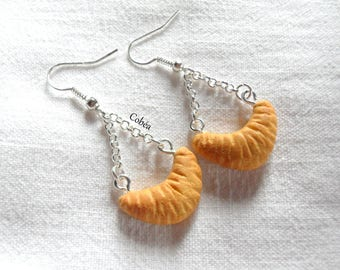 "Earrings GREEDY ""hanging Crescent"""